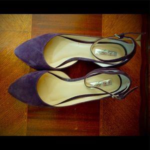 Halogen Purple Suede Heels